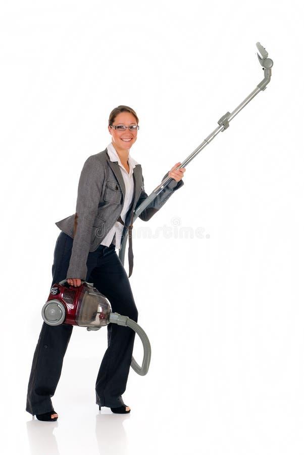 bizneswomanu cleaner próżnia fotografia royalty free