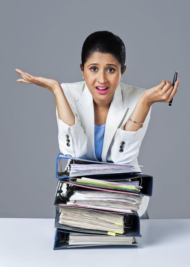 Bizneswomanu gestykulować fotografia stock