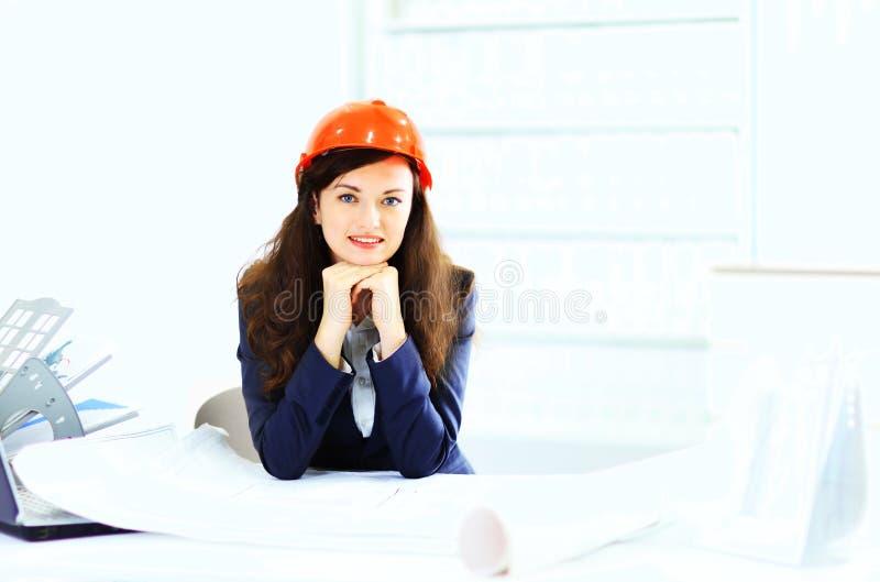 Bizneswomanu inżynier obrazy stock