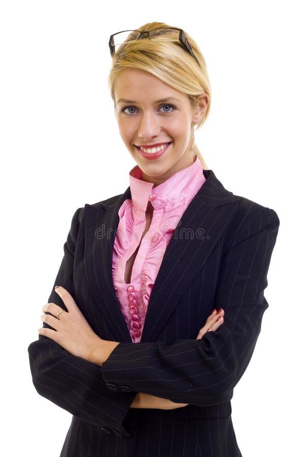 bizneswomanu ja target1290_0_ życzliwy zdjęcie royalty free