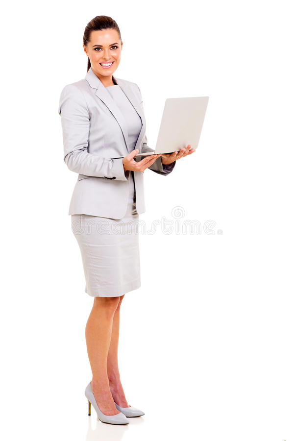bizneswomanu laptop zdjęcie stock