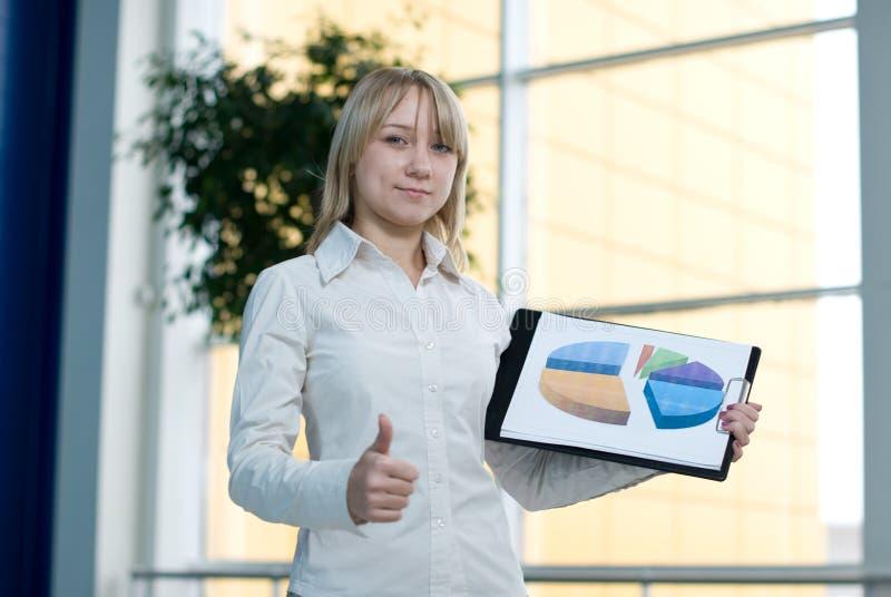 bizneswomanu map przedstawienie potomstwa obrazy stock