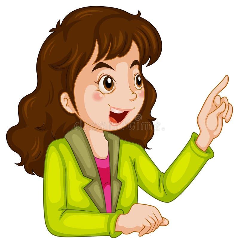 Bizneswomanu opowiadać ilustracji