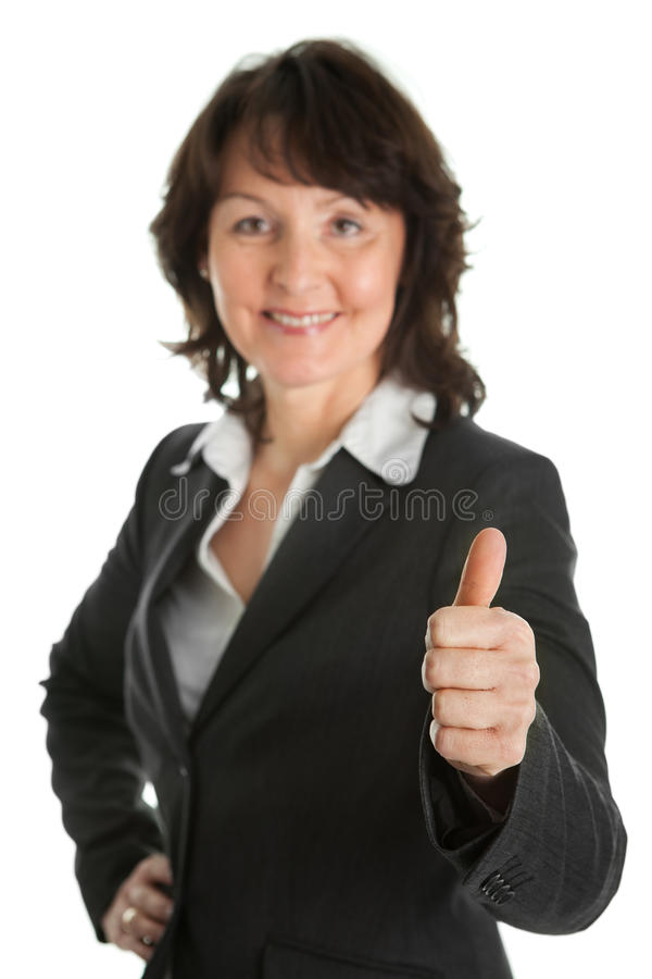bizneswomanu portreta senior sucessful obrazy stock