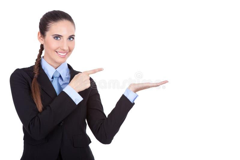 bizneswomanu produktu seans zdjęcia stock