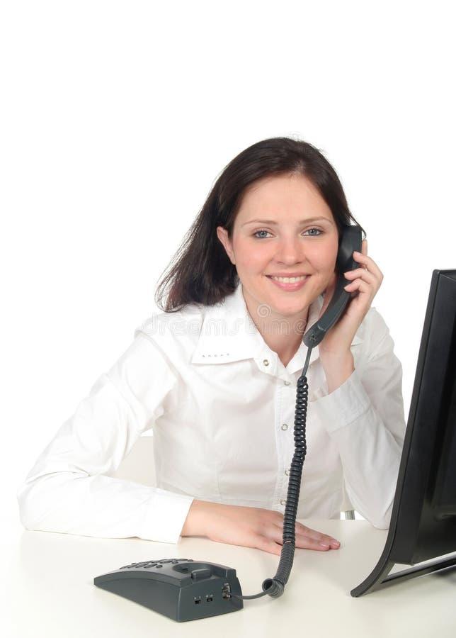 bizneswomanu rozmawiać z telefonu zdjęcia stock