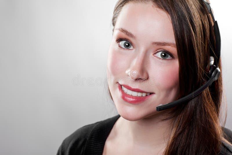 bizneswomanu słuchawki target59_0_ fotografia royalty free