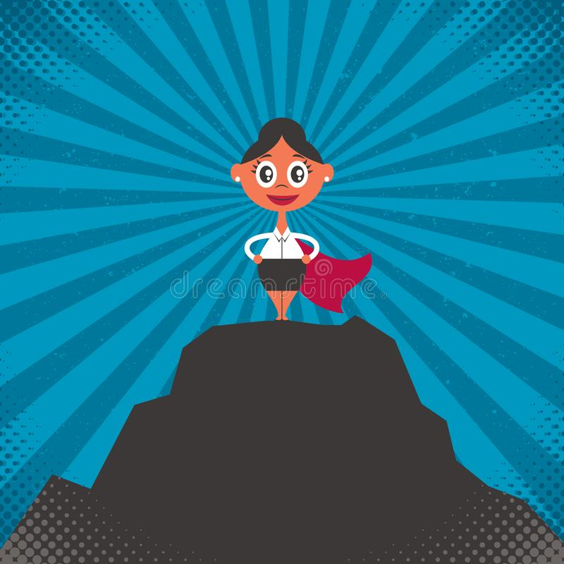 Bizneswomanu sukcesu ilustracja ilustracji