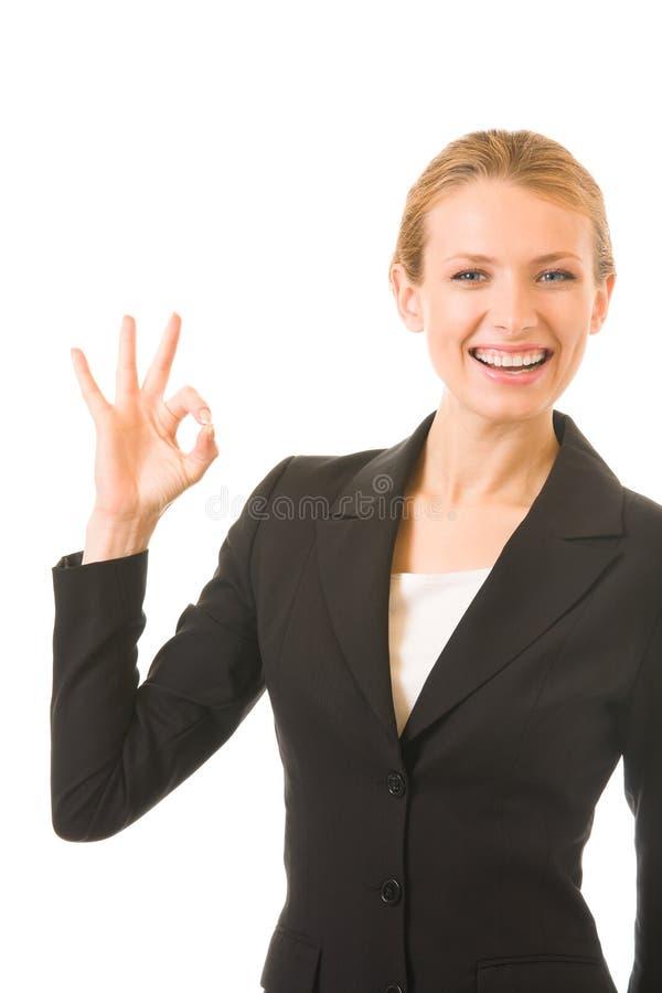 bizneswomanu szczęśliwy gestu obraz stock