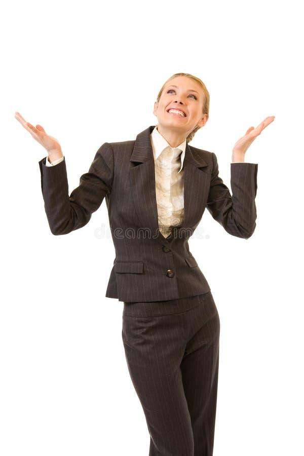 bizneswomanu target2992_0_ szczęśliwy zdjęcie stock