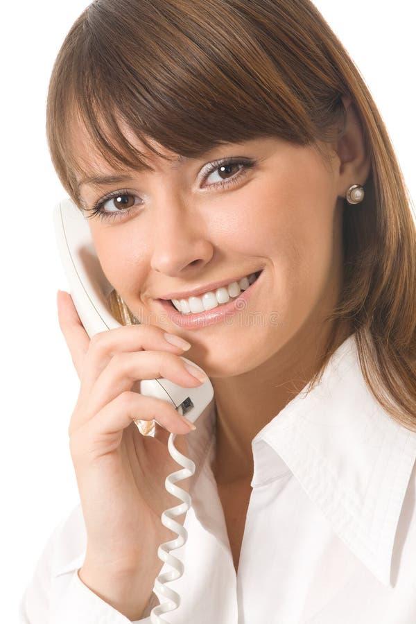 bizneswomanu telefon obrazy stock