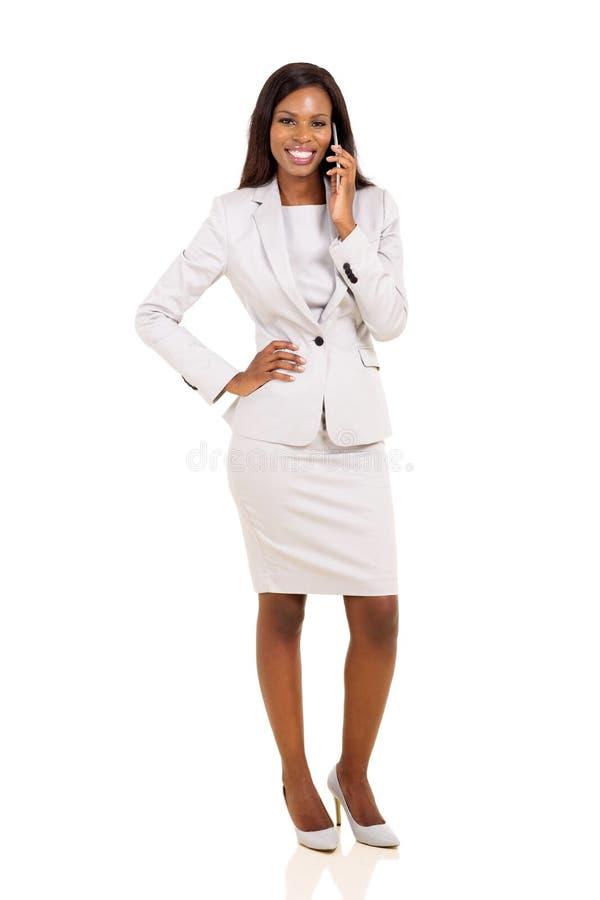 bizneswomanu telefon komórkowy target594_0_ obraz royalty free