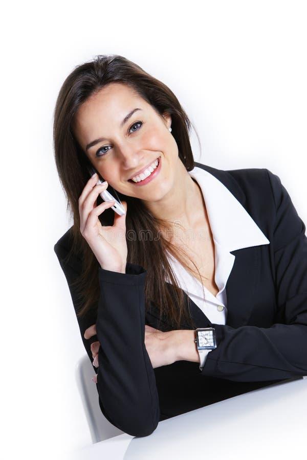 bizneswomanu telefon komórkowy target4710_0_ zdjęcia royalty free