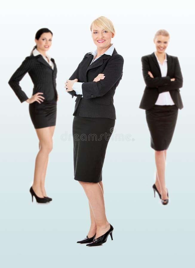 bizneswomany grupują trzy fotografia royalty free