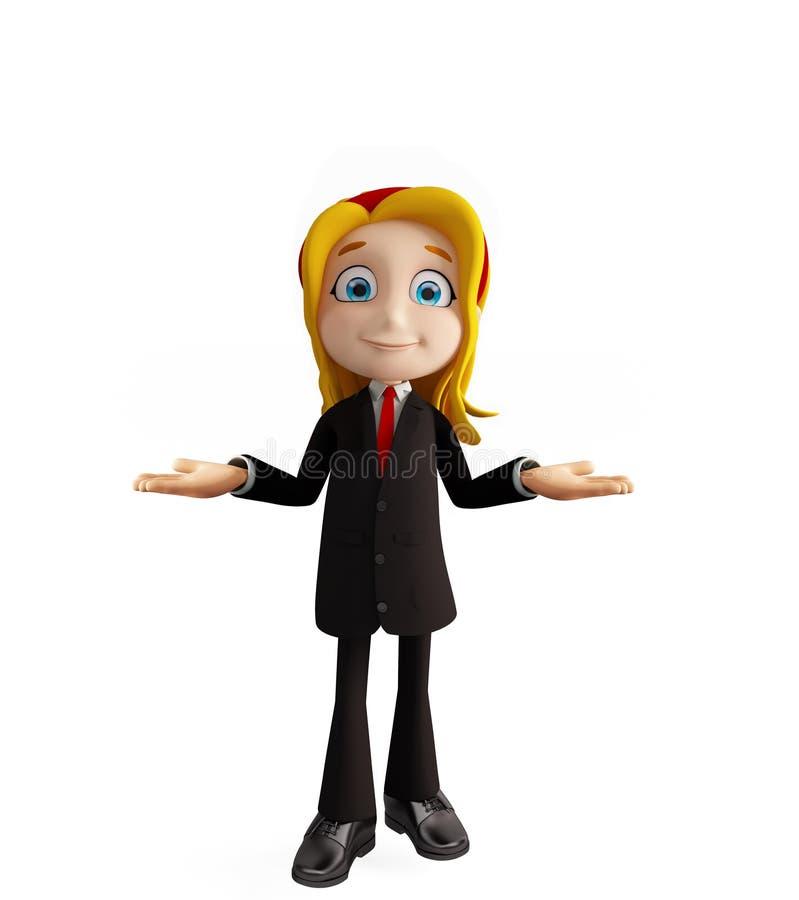 Bizneswomany z prezentaci pozą ilustracji