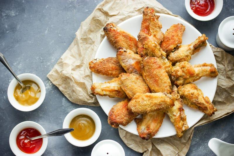 Bizonu kurczaka stylowi skrzydła fotografia royalty free