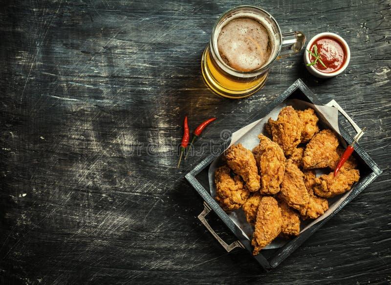 Bizonu kurczaka stylowi skrzydła zdjęcie royalty free