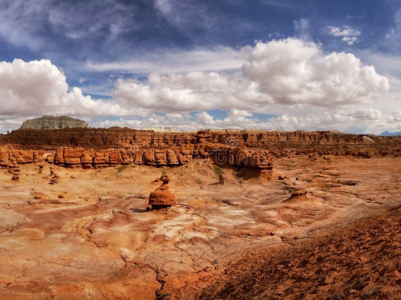 Bizzare Goblin Valley Landscape, State Park Utah royalty free stock image
