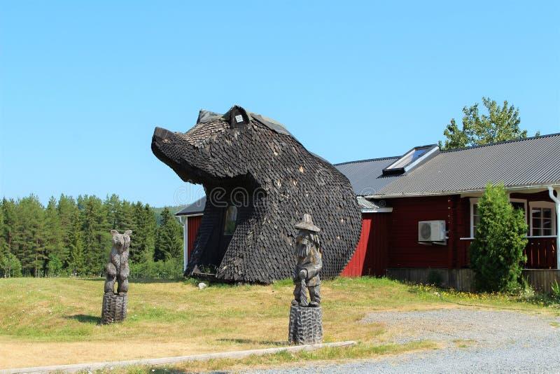 Björnstugan no ngermanland de Å foto de stock