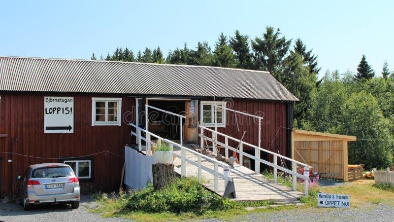 Björnstugan no ngermanland de Å fotografia de stock