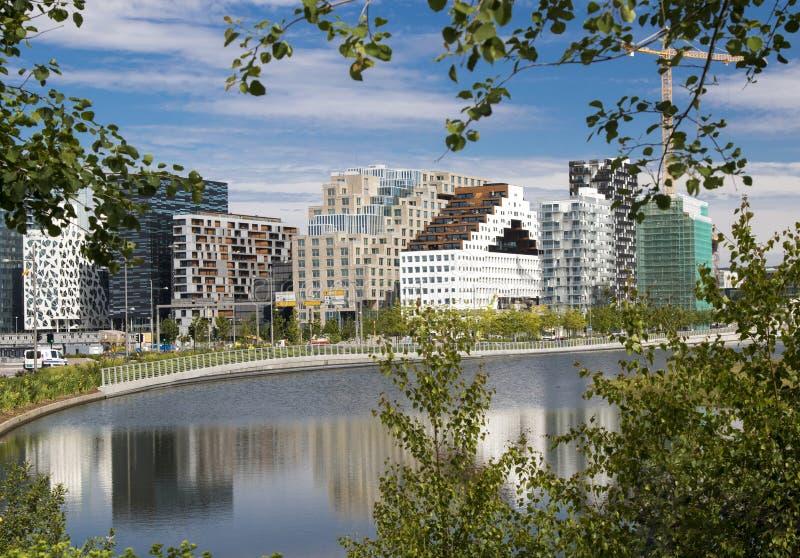 Bjørvika à Oslo Norvège photographie stock libre de droits