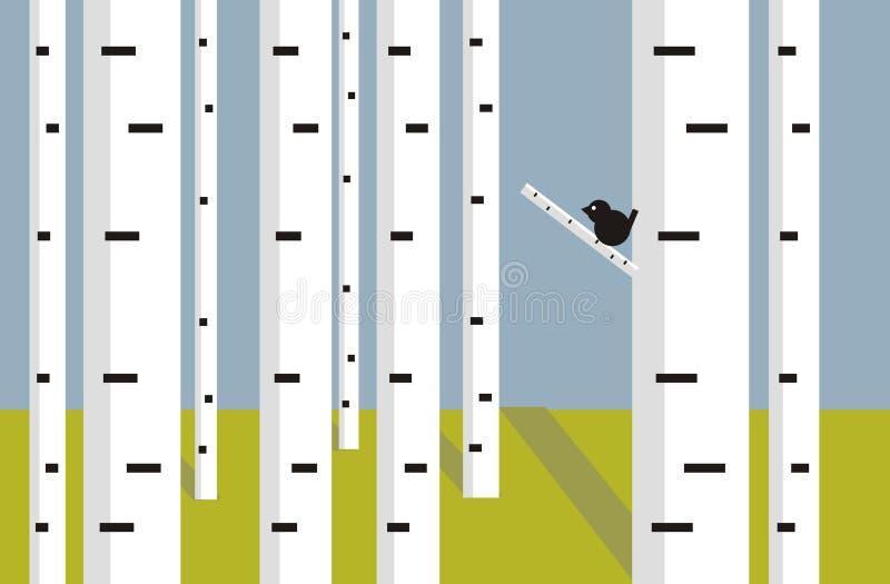 björk vektor illustrationer