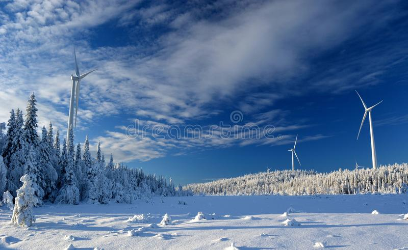 Björkhöjden Wind Farm royalty free stock photography