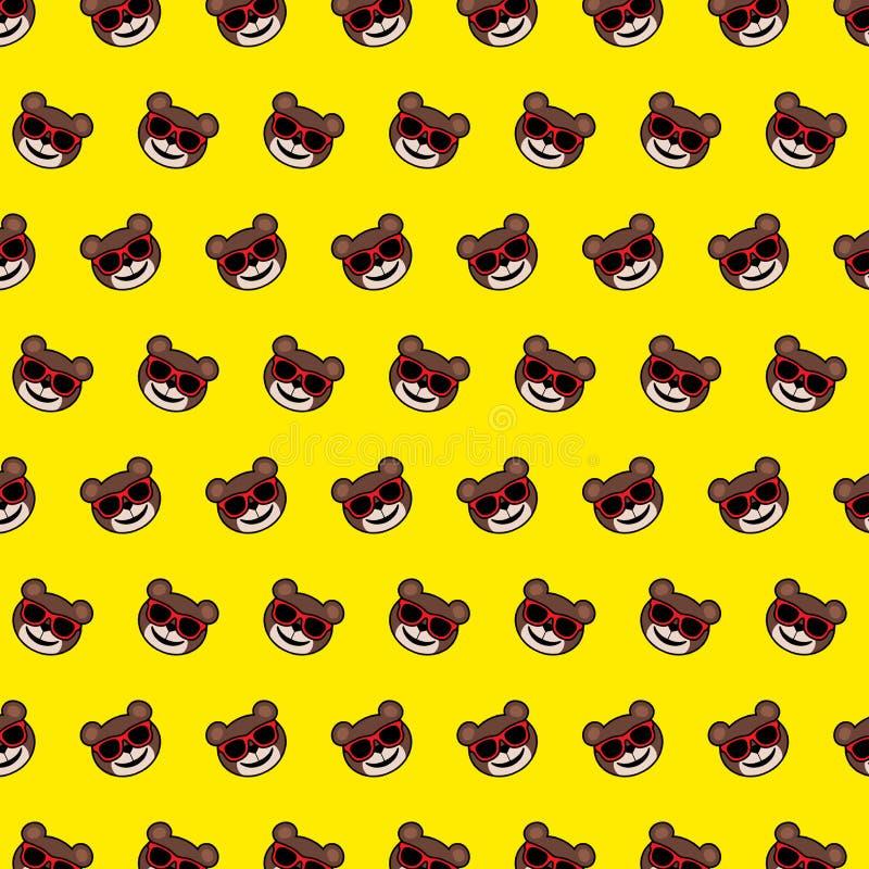 Björn - emojimodell 12 vektor illustrationer