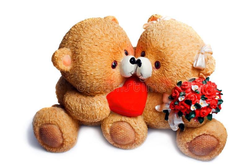 björn förälskade två arkivbild
