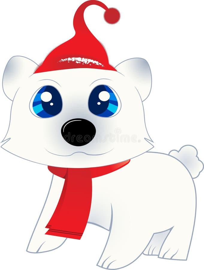 björn isolerat polart royaltyfri illustrationer