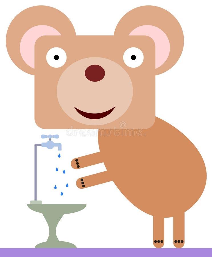 Björn med rena händer vektor illustrationer