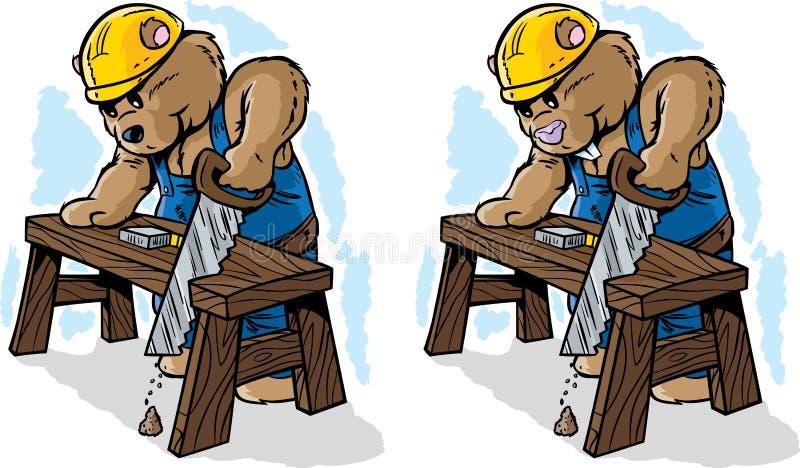 Björn och bäver vektor illustrationer