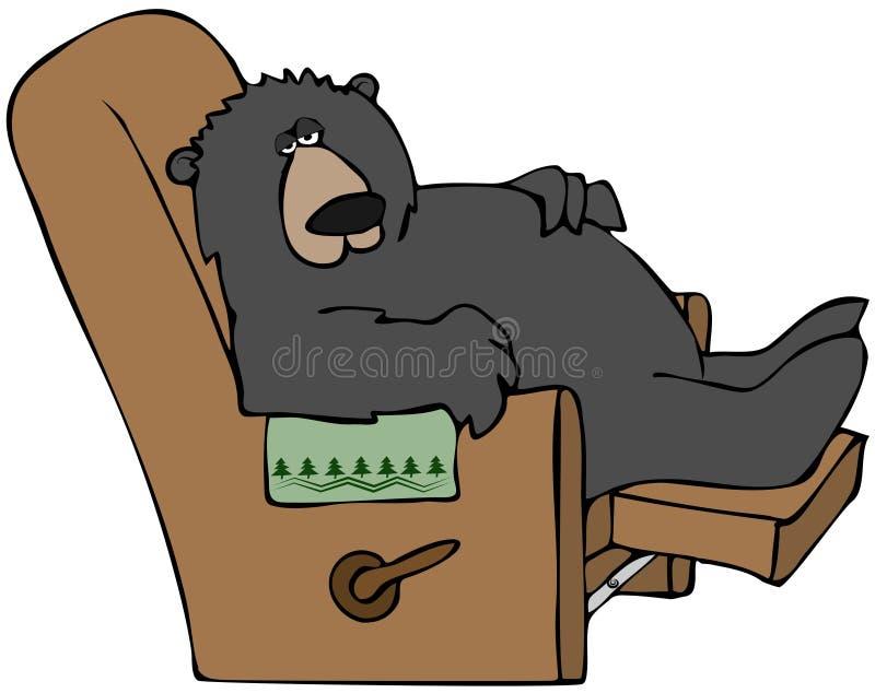 björn som hibernating vektor illustrationer