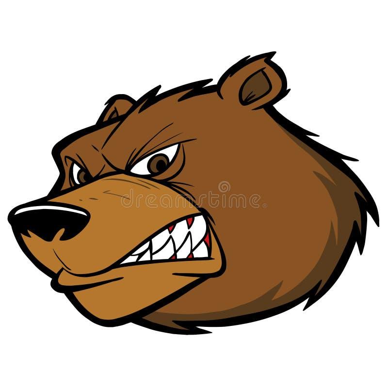 Björn Team Mascot stock illustrationer