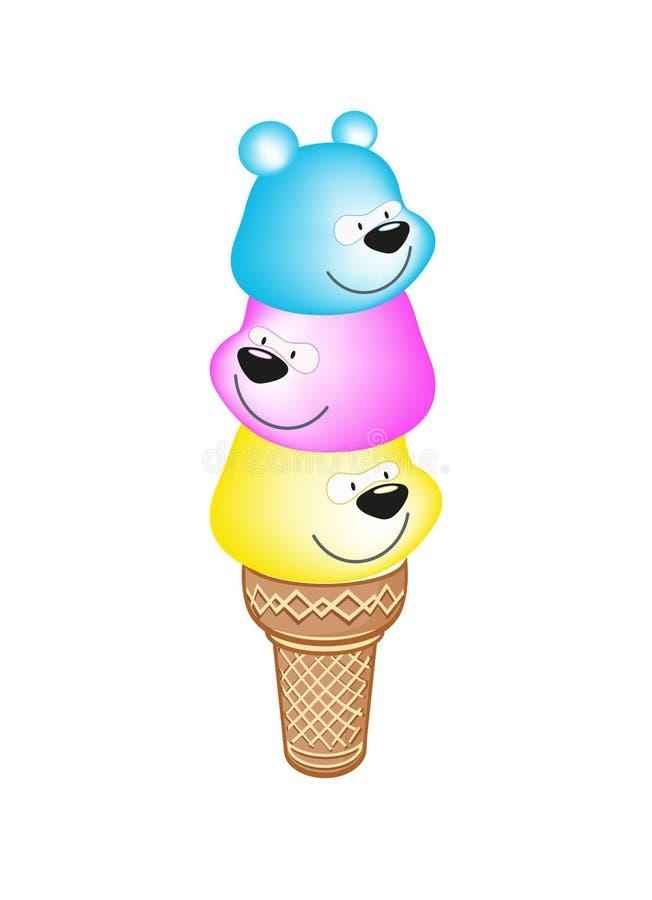 björnar tre royaltyfri illustrationer