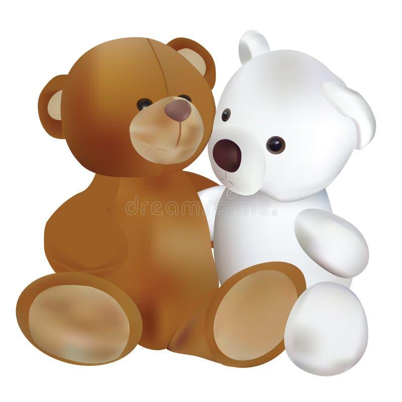 björnar två vektor illustrationer
