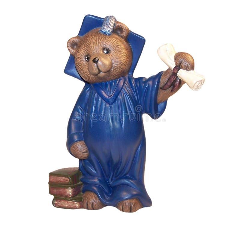 björnavläggande av examen royaltyfri bild