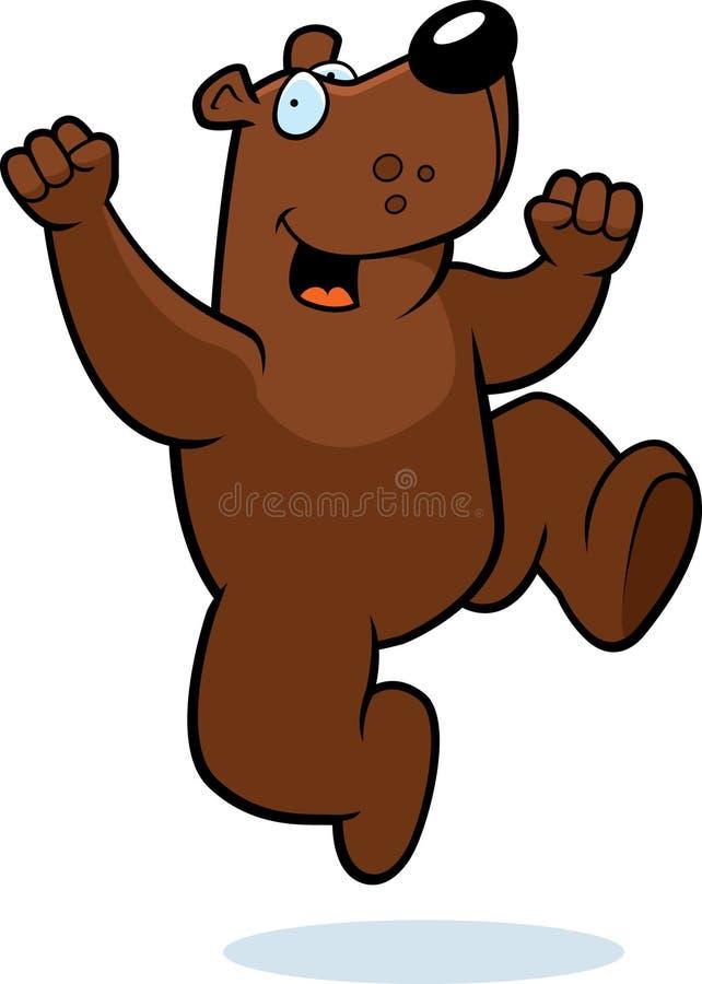 björnbanhoppning vektor illustrationer
