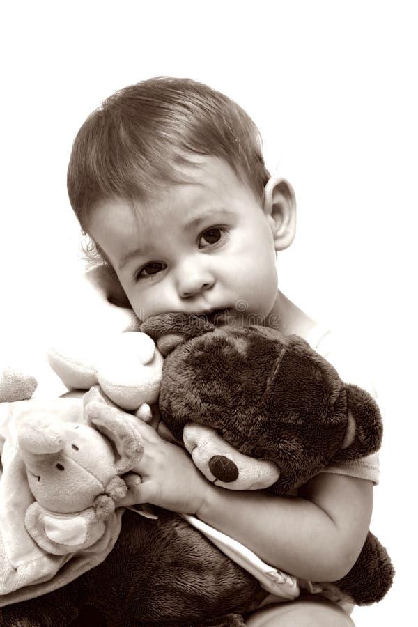 björnbarn henne little nalle arkivbild