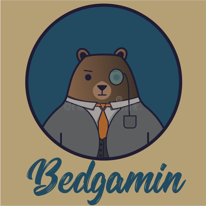 Björnbetjänt vektor illustrationer