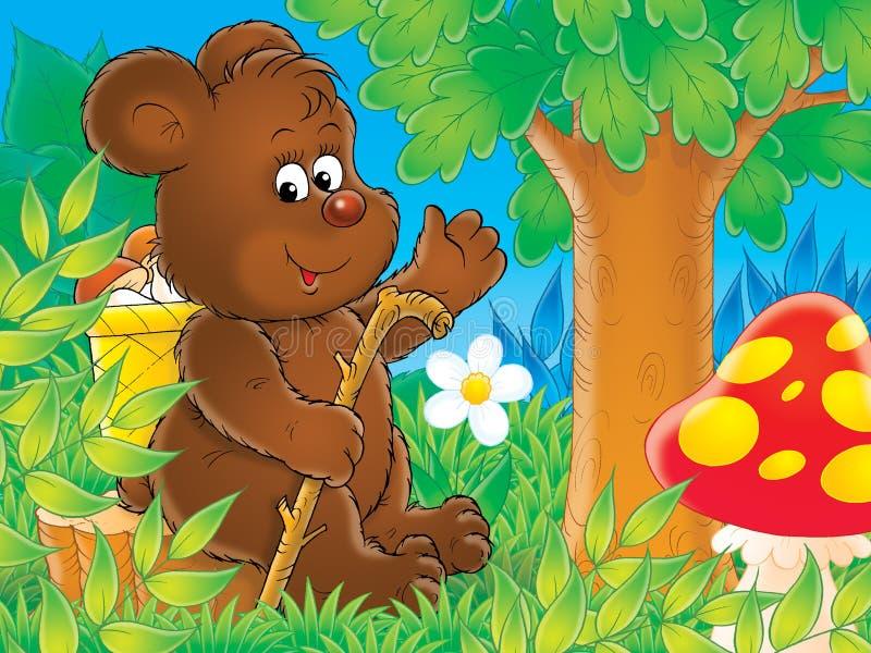 björnbrown royaltyfri illustrationer