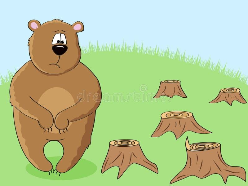 björneco stock illustrationer