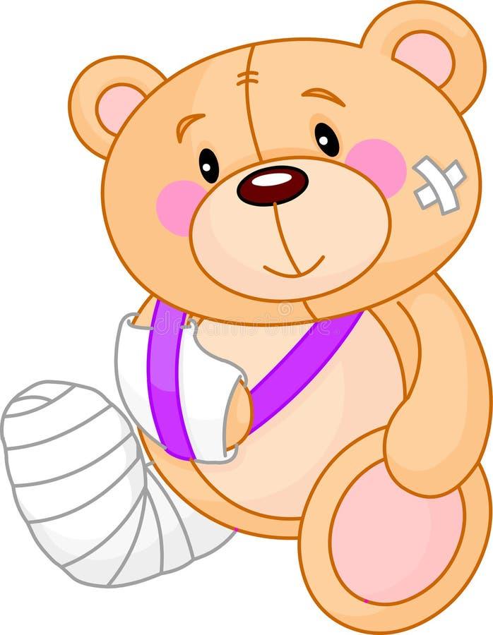 björnen får nalle gott royaltyfri illustrationer