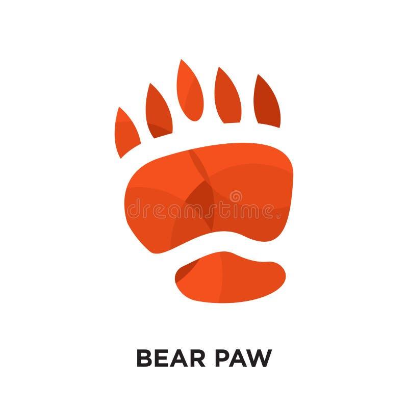 björnen tafsar logo som isoleras på vit bakgrund för din rengöringsduk, mobil royaltyfri illustrationer