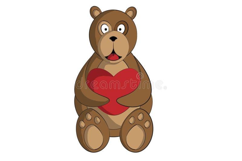 björnhjärta royaltyfri bild