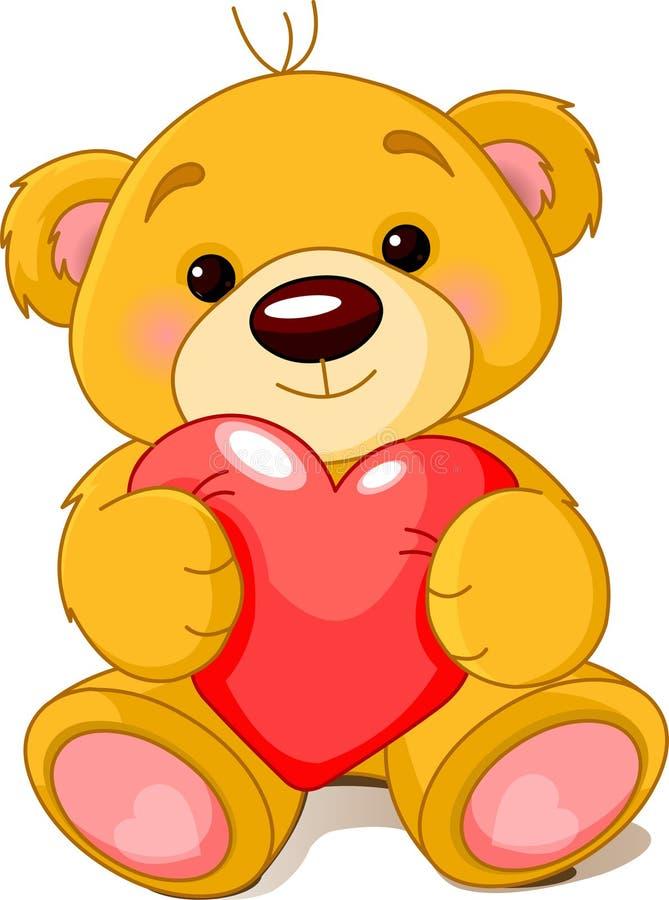 björnhjärta royaltyfri illustrationer