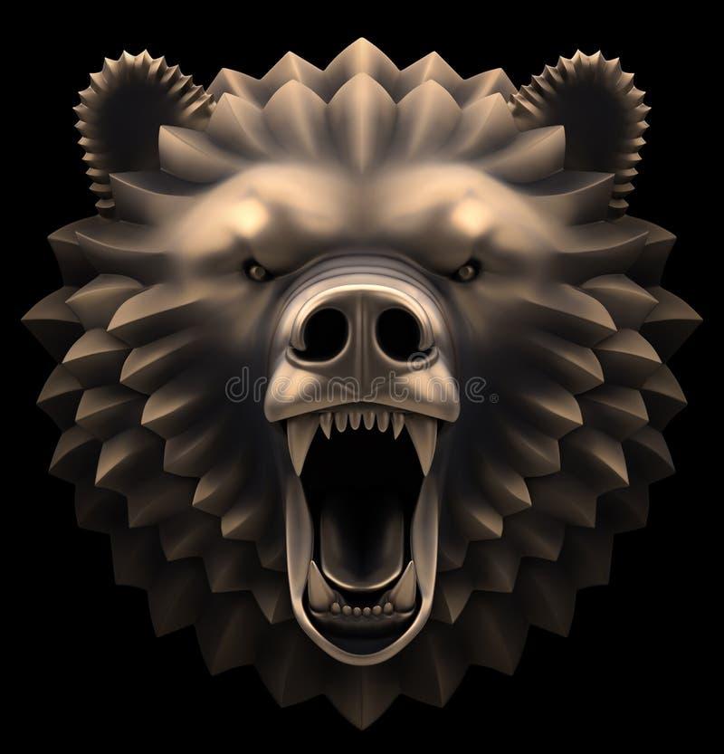Björnhuvudet royaltyfri illustrationer