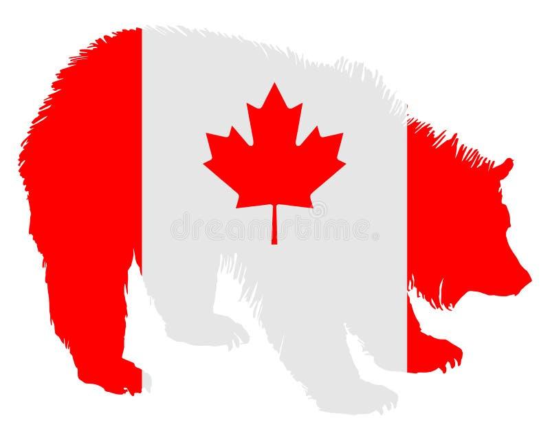 björnkanadensare royaltyfri illustrationer