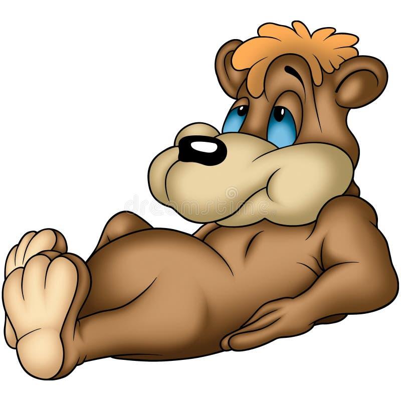 björnläggande royaltyfri illustrationer