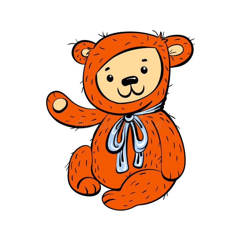 Björnleksaksymbol, tecknad filmstil vektor illustrationer